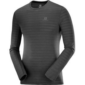 Salomon XA Camiseta Manga Larga Hombre, black/heather
